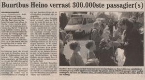 300.000ste passagier