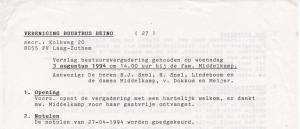 Bestuursvergadering 19940803